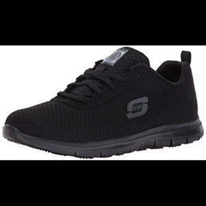 Black skechers nonslip Work sneakers